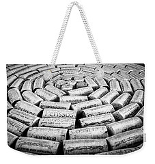 Weekender Tote Bag featuring the photograph Perissos Vineyard Wine Corks by Andy Crawford