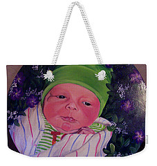 Periwinkle Baby Boy Weekender Tote Bag by Ruanna Sion Shadd a'Dann'l Yoder