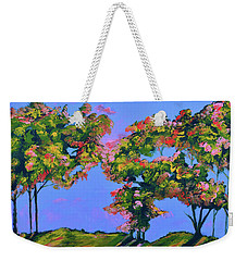 Periwinkle Twilight Weekender Tote Bag by Donna Blackhall