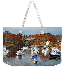 Weekender Tote Bag featuring the photograph Perkins Cove by Darren White