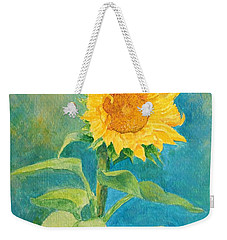 Perky Sunflower Colorful Painting Weekender Tote Bag