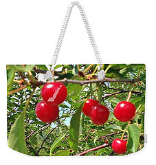 Perry's Cherry Image Weekender Tote Bag by Perry Andropolis