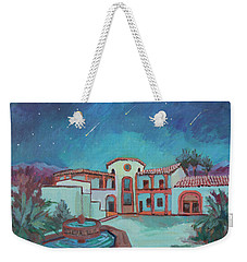 Weekender Tote Bag featuring the painting Perseids Meteor Shower From La Quinta Museum by Diane McClary
