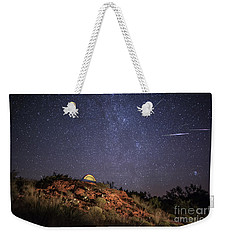 Weekender Tote Bag featuring the photograph Perseids Over Caprock Canyons by Melany Sarafis