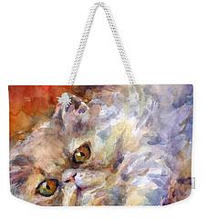 Persian Cat Painting Weekender Tote Bag