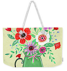 Persimmon And Sage Florals Weekender Tote Bag