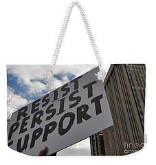 Persist Resist Support Weekender Tote Bag