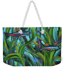 Persistent Fish Betta  Weekender Tote Bag by Robert Phelps
