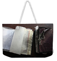Weekender Tote Bag featuring the photograph Peruse by Jez C Self