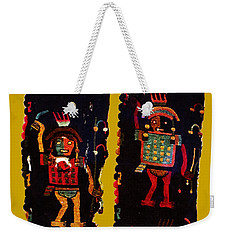 Weekender Tote Bag featuring the digital art Peruvian Fab Art by Asok Mukhopadhyay