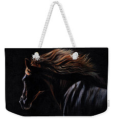 Weekender Tote Bag featuring the painting Peruvian Paso Horse by David Stribbling