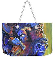 Pesky Cowbird Weekender Tote Bag