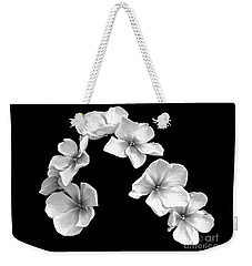 Weekender Tote Bag featuring the photograph Petal Cascade by Diane E Berry