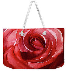 Weekender Tote Bag featuring the painting Petals by Allison Ashton