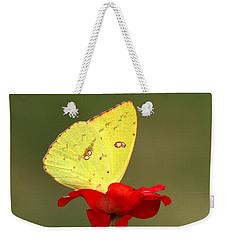 Weekender Tote Bag featuring the photograph Petals And Wings by Sheila Brown