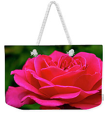 Petals Of A Bright Pink Rose Weekender Tote Bag by Teri Virbickis