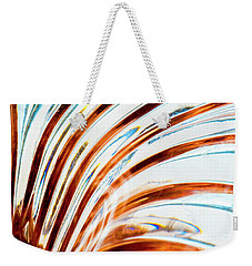Weekender Tote Bag featuring the photograph Petals Of Glass by Wendy Wilton