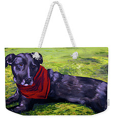 Weekender Tote Bag featuring the painting Pete by Denny Morreale