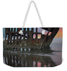 Peter Iredale Shipwreck At Sunrise Weekender Tote Bag