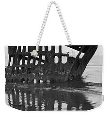 Peter Iredale Shipwreck In Black And White Weekender Tote Bag