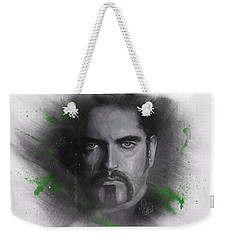 Weekender Tote Bag featuring the drawing Peter Steele, Type O Negative by Julia Art