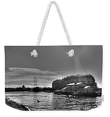 Weekender Tote Bag featuring the pyrography Peterburg Canal by Yury Bashkin