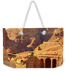 Weekender Tote Bag featuring the photograph Petra Buildings, Pond And Gardens Complex by Nicola Nobile
