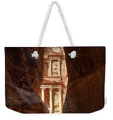 Petra Treasury Revealed Weekender Tote Bag by Nigel Fletcher-Jones