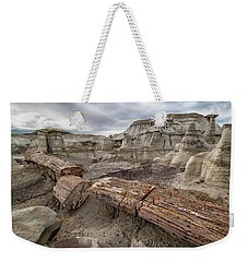 Weekender Tote Bag featuring the photograph Petrified Remains by Alan Toepfer