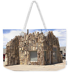 Petrified Wood Building Weekender Tote Bag