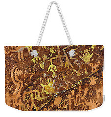 Petroglyph Records Weekender Tote Bag by Phyllis Denton