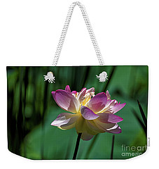Petty Pink Lotus Weekender Tote Bag