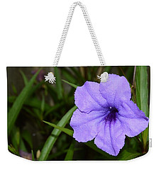 Petunia And Raindrops Weekender Tote Bag by Warren Thompson
