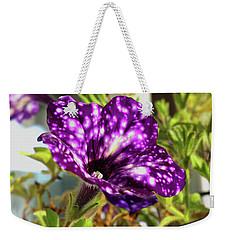 petunia nightsky,Helloween colors  Weekender Tote Bag by Tamara Sushko