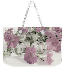 Petunias And Perfume - Soft Weekender Tote Bag by Sandra Foster