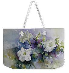 Petunias In Summer Weekender Tote Bag by Elena Oleniuc