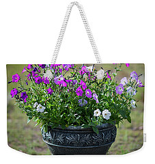 Petunias In The Chico Weekender Tote Bag