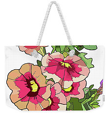 Petunias Weekender Tote Bag by Jamie Downs