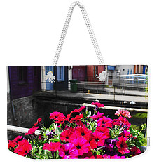 Weekender Tote Bag featuring the photograph Petunias Of Amiens by Therese Alcorn
