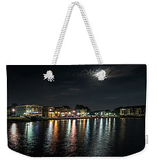 Pewaukee At Night Weekender Tote Bag by Randy Scherkenbach