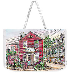 Pewter Shop, Rockport Massachusetts Weekender Tote Bag