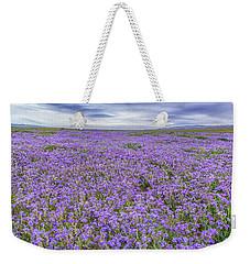 Phacelia Field And Clouds Weekender Tote Bag