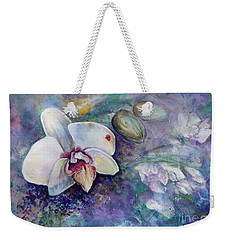 Phalaenopsis Orchid With Hyacinth Background Weekender Tote Bag