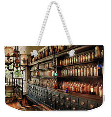 Pharmacy - So Many Drawers And Bottles Weekender Tote Bag by Mike Savad