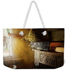 Weekender Tote Bag featuring the photograph Pharmacy - The Apothecarian by Mike Savad