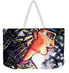 Weekender Tote Bag featuring the digital art Pharoah Of Egypt by Pennie  McCracken