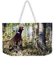 Pheasant In The Forest Weekender Tote Bag