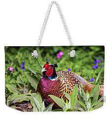 Pheasant Weekender Tote Bag by Martin Newman