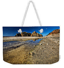 Weekender Tote Bag featuring the photograph Pheiffer Beach -keyhole Rock #18 - Big Sur, Ca by Jennifer Rondinelli Reilly - Fine Art Photography