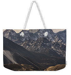 Weekender Tote Bag featuring the photograph Pheriche In The Valley by Mike Reid